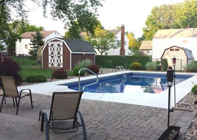 Pool Renovations - new pool with paver patio 13