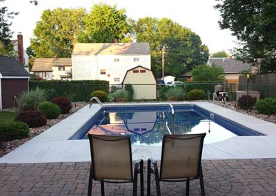 Pool Renovations - new pool with paver patio 14