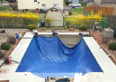 Pool Renovations - installing liner 7