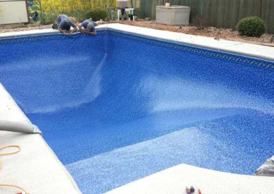 Pool Renovations - installing liner 8