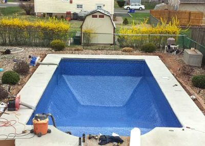 Pool Renovations - pool with new liner installed 9